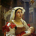 Karl Schorn - Roman woman with her child