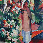 August Macke - Stroll amongst Flowers