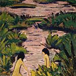 Bathers in the reed ditch
