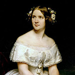 Theodore Gudin - Portrait of the Singer Jenny Lind
