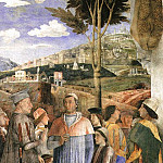 Andrea Mantegna - THE MEETING, DETAIL FROM WEST WALL OF THE CAMERA DE