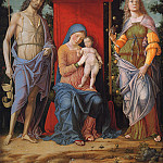 Andrea Mantegna - Virgin and child with the Magdalen and St John the Baptist