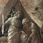 Andrea Mantegna - JUDITH AND HOLOFERNES, 1495-1500, GRISAILLE PAINTIN