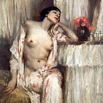 Vincenzo Campi - Woman at her toilette