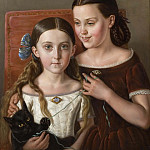 Sigrid and Anna Mazér, Nieces of the Artist, Carl Peter Mazer