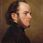 Portrait of the young Adolph Menzel, Adolph von Menzel
