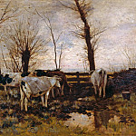 Franz von Lenbach - Cows on pasture