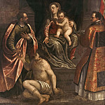 The Virgin and Child with St Martin and St Petronius [Attributed], Alessandro Maganza