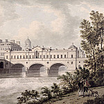 Thomas Malton Jnr. - Pulteney Bridge, Bath, from the River