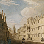 Thomas Malton Jnr. - Oriel College, Oxford, with St. Marys Church in the Distance