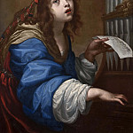 St. Cecilia Playing the Organ [Attributed]