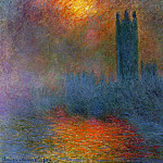 Claude Oscar Monet - Houses of Parliament, London, Sun Breaking Through the Fog