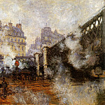 Claude Oscar Monet - The Europa bridge at Saint-Lazare