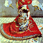 Claude Oscar Monet - Madame Monet in Japanese Costume (La Japonaise)