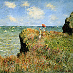 Claude Oscar Monet - Stroll at the rocks of Pourville