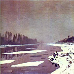 Claude Oscar Monet - Ice on the Seine near Bougival