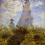 Claude Oscar Monet - The woman with the parasol