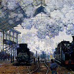 Claude Oscar Monet - The Gare Saint Lazare Arrival Of A Train