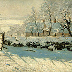 Claude Oscar Monet - Magpie, Snow Effect, Outskirts of Honfleur