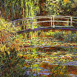 Claude Oscar Monet - The Water Lily Pond; Pink Harmony