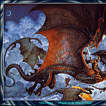 Don Maitz - Dragons On The Sea Of Night (Abraxsis)