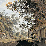 Coach and Four arriving at a Toll Gate, London, James Miller