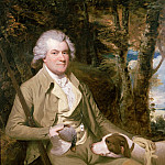Portrait of Squire Morland with his gun and dog, James Miller