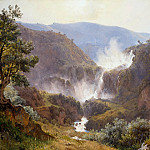 Julius Hübner - Waterfall at Tivoli