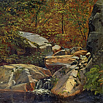 Julius Hübner - Forest stream