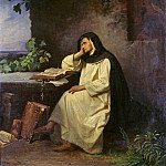 Carl Spitzweg - Meditating Benedictine monk