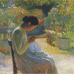 Henri-Jean-Guillaume Martin - Sewing in the garden at Marquayrol 01