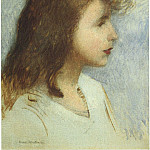 Henri-Jean-Guillaume Martin - Sketch of a Young Girl 1888