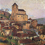Henri-Jean-Guillaume Martin - Saint Cirq Lapopie in Evening