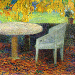 Henri-Jean-Guillaume Martin - The Large Stone Table under the Chestnut Street at Marquayrol 1915