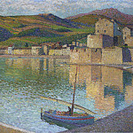 Henri-Jean-Guillaume Martin - Blue Boat in Port Collioure 1902