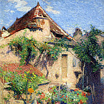 Henri-Jean-Guillaume Martin - House and Garden at Saint Cirq Lapopie 1920