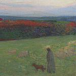 Henri-Jean-Guillaume Martin - A fFeld with Figure 1886