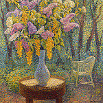 Henri-Jean-Guillaume Martin - Vase of Flowers in a Garden