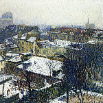 Henri-Jean-Guillaume Martin - The Roofs of Paris in the Snow the View from the Artists Studio 1895