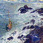 Henri-Jean-Guillaume Martin - Boat near Cliffs