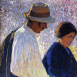 Henri-Jean-Guillaume Martin - The Married Couple Study for Reapers 1902 03