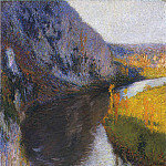 Henri-Jean-Guillaume Martin - Falaises du Lot aka The Cliffs of Lot 1897