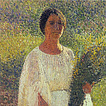 Henri-Jean-Guillaume Martin - Girl with Flowers