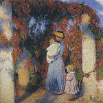Henri-Jean-Guillaume Martin - Mother and Child in Pergola at Marquayrol