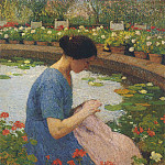 Henri-Jean-Guillaume Martin - Sewing in the Garden at Marquayrol