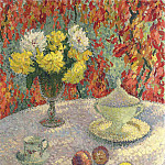 Henri-Jean-Guillaume Martin - Dahlias in the Sun 1920