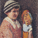 Henri-Jean-Guillaume Martin - Young Girl with Doll