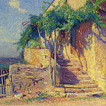 Henri-Jean-Guillaume Martin - House with Vine and Staircase