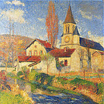 Henri-Jean-Guillaume Martin - Church by the River 1921