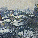 Henri-Jean-Guillaume Martin - The Roofs of Paris in the Snow the View from the Artists Studio 1898